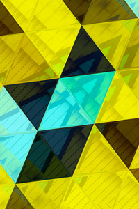 1242x2688 Triangles Abstract 4k