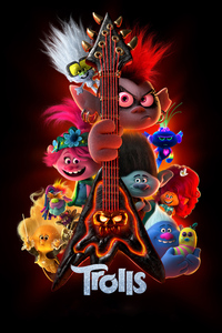 640x1136 Trolls Movie 4k