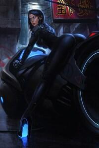Tron Bike Anime Girl