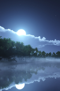1242x2688 Tropic Cold Night 4k