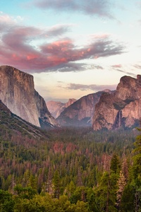 640x960 Tunnel View At Dusk Yosemite 5k