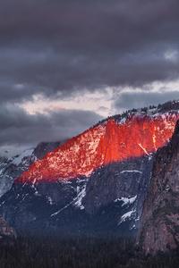 240x320 Tunnel View Yosemite 5k