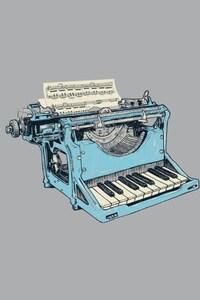 800x1280 Typewriter Minimalism