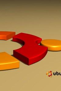 800x1280 Ubuntu 3d Logo
