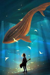 1242x2688 Underwater Melody 4k