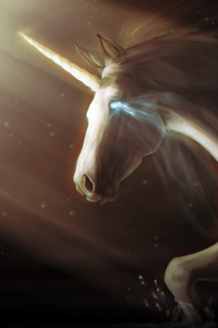 800x1280 Unicorn Digital Art 5k