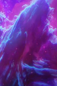 Universe Purple Planets 5k