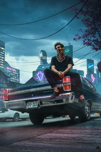 Urban Boy Sitting On Car 4k