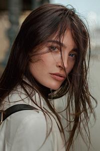 1440x2960 Urban Girl In Street Hair Over Face 4k