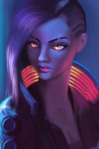 V Character Cyberpunk 2077 Paint Art 4k