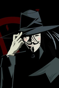480x800 V For Vendetta Anonymus 4k