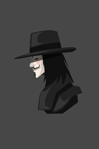 240x400 V For Vendetta Minimalism