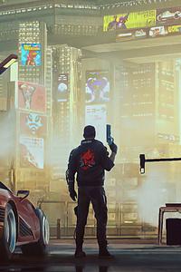 V In Cyberpunk 2077 4k