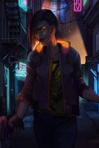 V On Streets Of Cyberpunk 2077