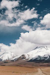 480x800 Valley Near Snowy Mountain Landscape