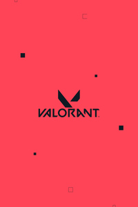 320x568 Valorant Logo Red 4k