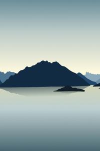 540x960 Vector Landscape Reflection Mountains 4k