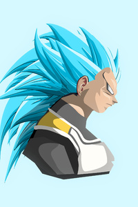 1242x2688 Vegeta Dragon Ball Super 4k Art