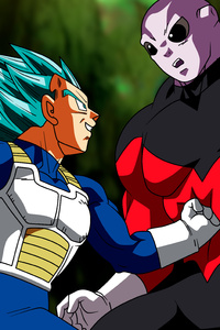 800x1280 Vegetta Vs Jiren Dragon Ball Super
