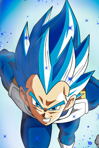 800x1280 Vegita SSJ Blue Full Pawer