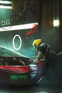 Vehicle Garage Digital Art Scifi 4k