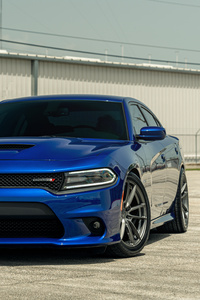 640x1136 Velgen Blue Dodge Charger Dirty South 8k