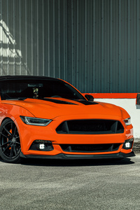 750x1334 Velgen Wheels Orange Ford Mustang 8k
