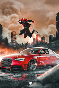 Vengeance Graphix Audi Rs5 Spiderman 4k