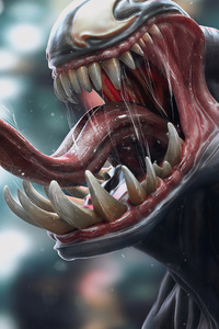 640x960 Venom 3d Art Tongue Art 4k