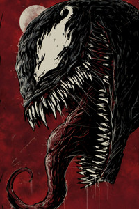 Venom 4k New Sketch Poster