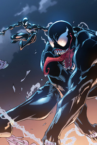 640x1136 Venom And Black Spider Man
