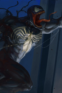 Venom And Spiderman Artwork