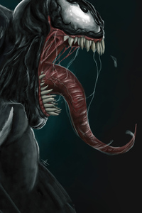 Venom Closeup Art