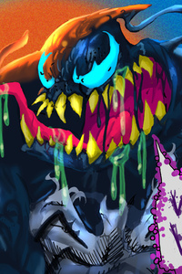 640x960 Venom Colorful Art 4k