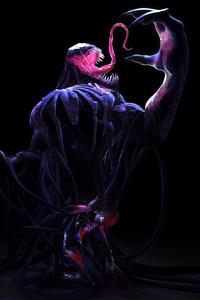 Venom Defeating Spiderman Art