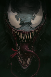 Venom Face Closeup Art