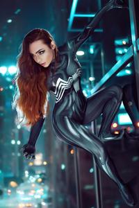 240x320 Venom Girl Cosplay 5k