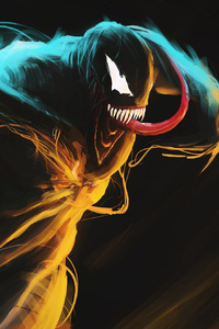 480x800 Venom Glowing Art