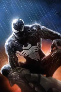 1280x2120 Venom In Rain 4k