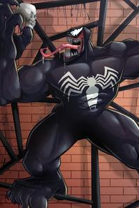 2160x3840 Venom In Web