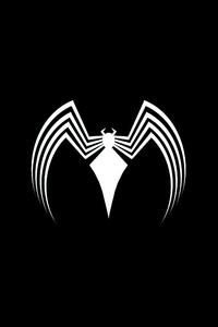 1280x2120 Venom Logo Dark 4k
