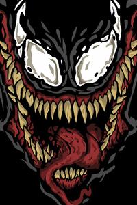 320x480 Venom Minimalism 4k Art