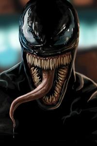 Venom Movie Closeup Art