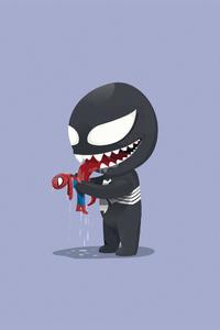 Venom Playtime With Little Spidey