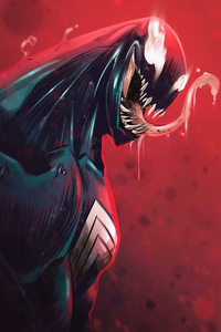 1080x1920 Venom Sketchy Artwork