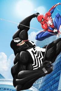 Venom Spiderman Art