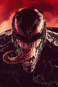 Venom Tounge Out Digital Art 4k