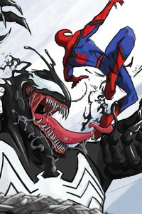 Venom Vs Spiderman Marvel Fan Art 4k