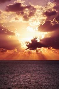 Vibrant Sunset Evening Landscape 4k