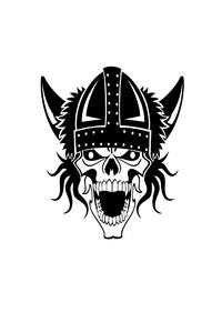 480x854 Vikings Skull